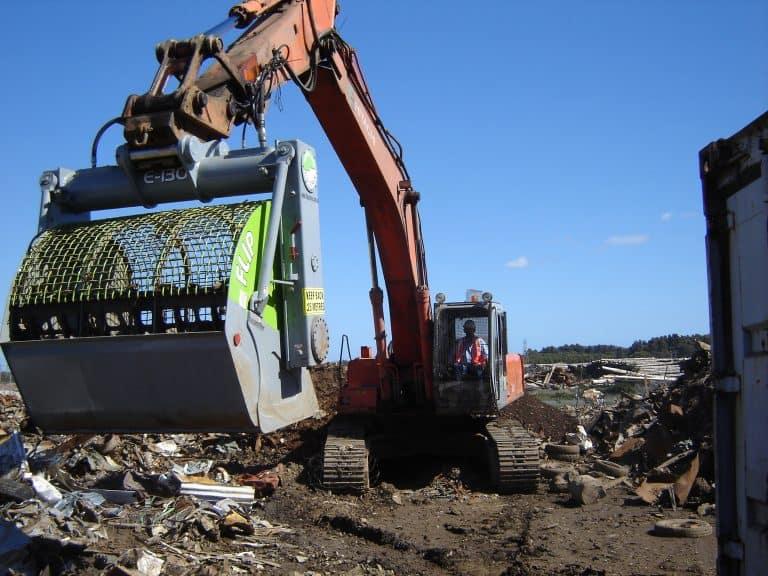 bucket for sorting scrap metal