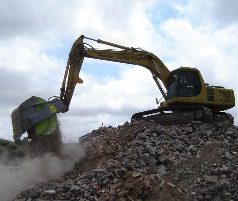 demolition screening bucket